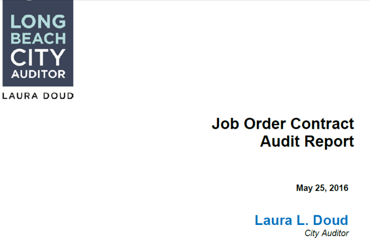 job order contract audit
